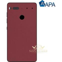 Apa Matte Burgundy Red Velvet Essential Phone Ph1 Carbon Fiber Rear Panel
