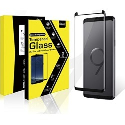 Samsung Galaxy S9 Plus Tempered Glass Screen Protector, Anti-Scratch 3D Curved Edge,No Bubble for Samsung S9 Plus [Black] (Black, S9 Plus Tempered Glass) found on Bargain Bro from  for $10.99