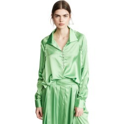 Anais Jourden Satin Windbreaker Blouse found on MODAPINS from shopbop for USD $103.50