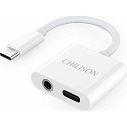 CHILISON USB C to 3 5mm Headphone Adapter, 2 in 1 Audio Adapter and Fast  Charging Dongle Compatible for Pixel 3/3XL/Pixel 2/2 XL, iPad pro