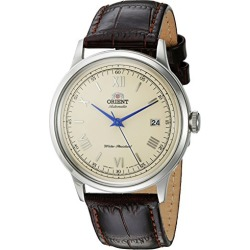 Orient Men's 2nd Gen. Bambino Ver. 2 Stainless Steel Japanese-Automatic Watch with Leather Strap, Brown, 21 (Model: FAC00009N0 found on Bargain Bro from  for $125.93