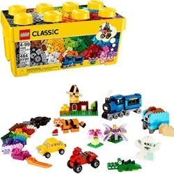 LEGO Classic Medium Creative Brick Box 10696 Building Toys for Creative Play; Kids Creative Kit (484 Pieces) found on Bargain Bro from  for $27.99