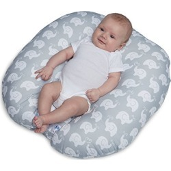 Boppy Original Newborn Lounger, Elephant Love Gray found on Bargain Bro from  for $