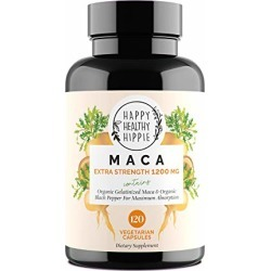 Organic Maca Root Supplement 1200mg - Gelatinized Vegan Peruvian Maca W/Black Pepper Fruit Extract - Increased Absorption/Bioavailability | Enhanced Libido & Natural Energizer | 120 Veggie Capsules | found on Bargain Bro from  for $16.95