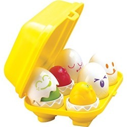 TOMY Toomies Hide & Squeak Eggs | Easter Egg Toddler Toys | Matching & Sorting Learning Toys |Top Toy for Easter Baskets found on Bargain Bro from  for $13.99