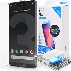 Dome Glass Google Pixel 3 XL Screen Protector Tempered Glass Shield, [Liquid Dispersion Tech] 2.5D Edge of Screen Coverage, Easy Install Kit and UV Light by Whitestone for Google Pixel 3 XL (2018) found on Bargain Bro from  for $49.99