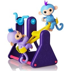 """WowWee Fingerlings Playset – See-Saw with 2 Baby Monkey Toys, """"Willy"""" (Blue) and """"Milly"""" (Purple) found on Bargain Bro from  for $5.99"""