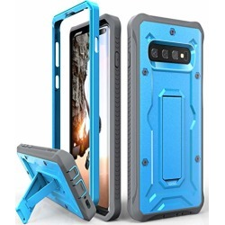 Galaxy S10+ Plus Heavy Duty Case - ArmadilloTek Vanguard Series Military Grade Rugged Case with Kickstand for Samsung Galaxy S10+ Plus [Not S10 or S10e] - Blue/Gray found on Bargain Bro from  for $20.98