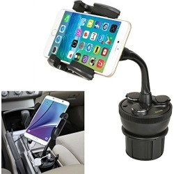 Car Cup Mount iKross Universal Smartphone Cup Holder Cradle with 3 Lighter Sockets and 2 USB Charging Port 4.2A 21W For Apple iPhone 7 iPhone 7 Plus, Samsung Galaxy S8 S8+, Note, LG, Google found on Bargain Bro from  for $