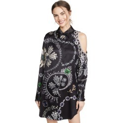 Area Jewelry Print Crystal Cutout Shirtdress found on MODAPINS from shopbop for USD $540.00
