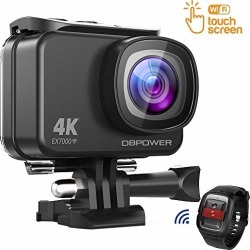 DBPOWER EX7000 Sports Action Camera 4K, 14MP Touchscreen Waterproof Camera 170 Degree Wide Angle 2.4G Remote Control and Accessories Kit found on Bargain Bro from  for $129