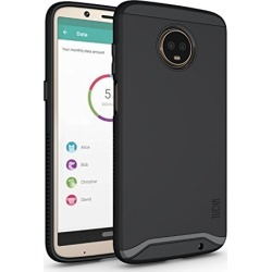 Moto Z3 Play Case, Moto Z3 Case, TUDIA Slim-Fit Heavy Duty [Merge] Extreme Protection/Rugged but Slim Dual Layer Case for Motorola Moto Z3 Play (Matte Black) found on Bargain Bro from  for $10.9