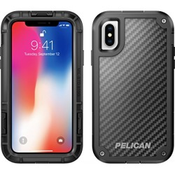 iPhone X Case | Pelican Shield Case for iPhone X - Ultra slim design constructed of Kevlar brand fibers for up to 24 feet drop protection found on Bargain Bro from  for $35.8