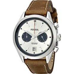 Fossil Men's CH2952 Del Rey Chronograph Leather Watch - Tan found on Bargain Bro from  for $125