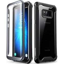 Samsung Galaxy S8 case, i-Blason [Ares] Full-Body Rugged Clear Bumper Case with Built-in Screen Protector for Samsung Galaxy S8 2017 Release (Black) found on Bargain Bro from  for $17.99