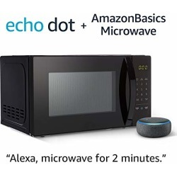 AmazonBasics Microwave with Echo Dot (3rd Gen.) - Charcoal found on Bargain Bro from  for $84.98
