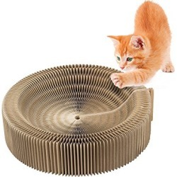 Cat Scratcher Cardboard Bed Corrugated Cat Lounge Scratching Pad for Christmas Cat Bed found on Bargain Bro from  for $29.99