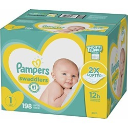 Pampers Swaddlers Newborn Diapers Size 1 198 Count found on Bargain Bro from  for $47.52