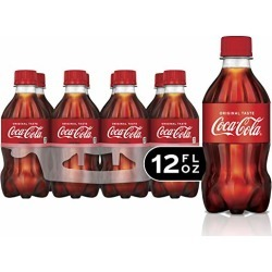 Coca-Cola Soda Soft Drink, 12 fl oz, 8 Pack found on Bargain Bro from  for $4.39