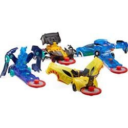 Level 1 - Jayhawk, Nightweaver, Nitebite & Sparkbug - Flipping Morphing Toy Car Vehicles (4 Pack) found on Bargain Bro from  for $10.57