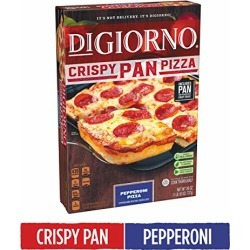 DIGIORNO Crispy Pan Pizza Pepperoni Frozen Pizza, 26 oz. | Made with Mozzarella Cheese found on Bargain Bro from  for $