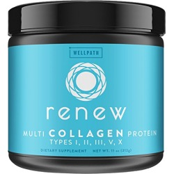RENEW Multi Collagen Protein Powder - Premium Blend of Hydrolyzed Grass-Fed Bovine, Marine, Chicken & Egg Collagen Peptides | Type I, II, III, V, and X | Vital Supplement For Women & Men | KETO | 11oz found on Bargain Bro from  for $23.85