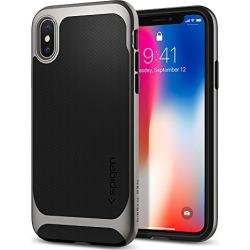 Spigen Neo Hybrid Designed for Apple iPhone X Case (2017) - Black & Gunmetal found on Bargain Bro from  for $29.99