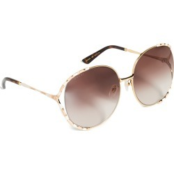 Gucci Feminine Fork Round Sunglasses found on Bargain Bro India from shopbop for $505.00
