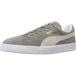 PUMA Suede Classic Sneaker,Steeple Gray/White,4 M US Men's found on Bargain Bro from  for $65
