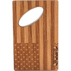 WUDN Real Wood Credit Card Bottle Opener, American Flag found on Bargain Bro from  for $13.92