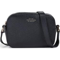 Smythson Panama Mini Camera Bag with Leather Strap