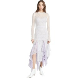 Anais Jourden White Duo Lace Midi Dress found on MODAPINS from shopbop for USD $223.50
