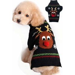BOBIBI Dog Sweater for Christmas Cartoon Reindeer Pet Cat Winter Knitwear Warm Clothes Small found on Bargain Bro from  for $16.8