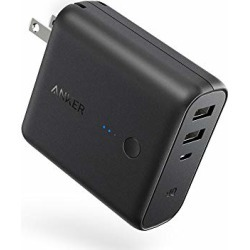 Anker PowerCore Fusion, Portable Charger 5000mAh with Dual USB Wall Charger, Foldable Plug and PowerIQ, Battery Pack for iPhone, iPad, Android, Samsung Galaxy and More found on Bargain Bro from  for $25.97