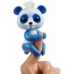 WowWee Fingerlings Glitter Panda -  Archie (Blue) - Interactive Collectible Baby Pet found on Bargain Bro from  for $5