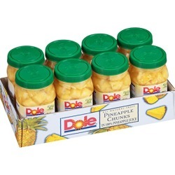 Dole Pineapple Chunks, 23.5 Ounce Jars (Pack of 8) found on Bargain Bro from  for $12.5