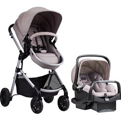 Evenflo Pivot Modular Travel System, Lightweight Baby Stroller, Sleek & Versatile, Easy Infant Car Seat Transfer, Oversized Storage Basket, Blanket Boot, Travel Stroller, 3-Panel Canopy, Sandstone Tan found on Bargain Bro from  for $279.99