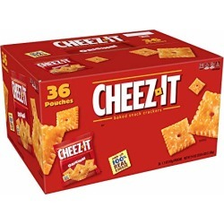 Cheez-It Baked Snack Cheese Crackers, Original, Single Serve, 1.5 Oz Pack of 36 found on Bargain Bro from  for $6.86