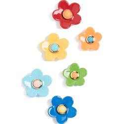 Roxanne Assoulin Flower Power Set of Stud Earrings