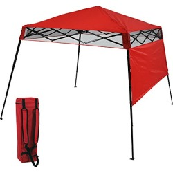 Sunnydaze Compact Quick-Up Slant Leg Instant Pop-Up Backpack Canopy, 6 x 6 Foot Top, 7.5 x 7.5 Foot Bottom, Red found on Bargain Bro from  for $86.95