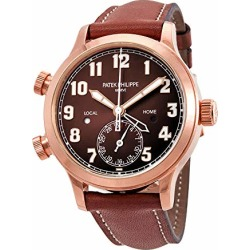 Patek Philippe Calatrava Pilot Travel Time Brown Sunburst Dial Automatic Ladies Watch 7234R-001 found on Bargain Bro from  for $38500
