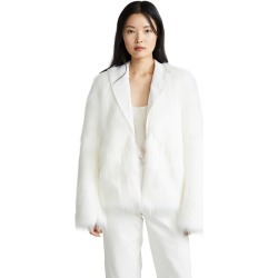Anais Jourden White Faux Fur Blazer found on MODAPINS from shopbop for USD $306.00