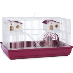 Prevue Hendryx SP2060R Deluxe Hamster and Gerbil Cage, Bordeaux Red found on Bargain Bro from  for $39.98