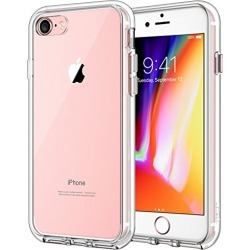JETech Case for Apple iPhone 8 and iPhone 7, 4.7-Inch, Shock-Absorption Bumper Cover, Anti-Scratch Clear Back, HD Clear found on Bargain Bro from  for $7.95