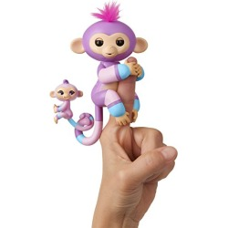WowWee Fingerlings Baby Monkey & Mini BFFs - Violet & Hope (Mauve-Blue) found on Bargain Bro from  for $7.99