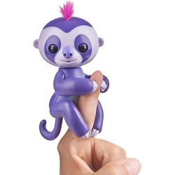 Fingerlings Baby Sloth - Marge (Purple) -  Interactive Baby Pet - by WowWee found on Bargain Bro from  for $6.27