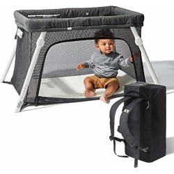 Lotus Travel Crib - Backpack Portable, Lightweight, Easy to Pack Play-Yard with Comfortable Mattress - Certified Baby Safe found on Bargain Bro from  for $249.99