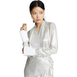 Anais Jourden Silver Pleated Blouse found on MODAPINS from shopbop for USD $232.50