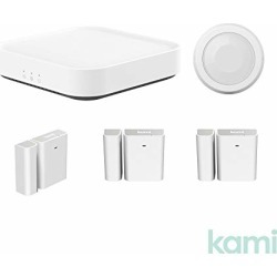 Kami Smart Security Starter Kit with Base Station, Wireless Window and Door Entry Sensor, PIR Human or Pet Detection Sensor for Home Office Business Burglar Alerts Through Kami App found on Bargain Bro from  for $99.99