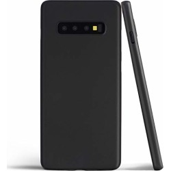 totallee Thin Galaxy S10 Plus Case, Thinnest Cover Ultra Slim Minimal - for Samsung Galaxy S10+ (2019) (Solid Black) found on Bargain Bro from  for $29